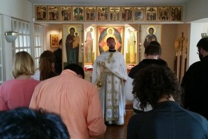Fr Milutin PhD Serves in the Chapel